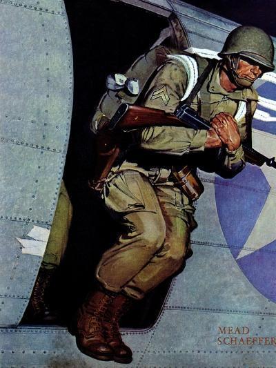 """""""Paratrooper,"""" September 12, 1942-Mead Schaeffer-Giclee Print"""