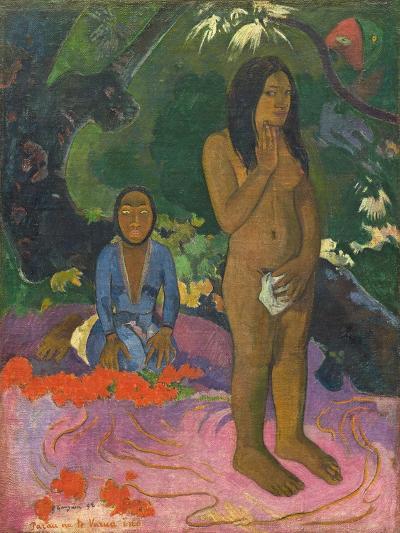 Parau Na Te Varua Ino (Words of the Devil), 1892-Paul Gauguin-Giclee Print