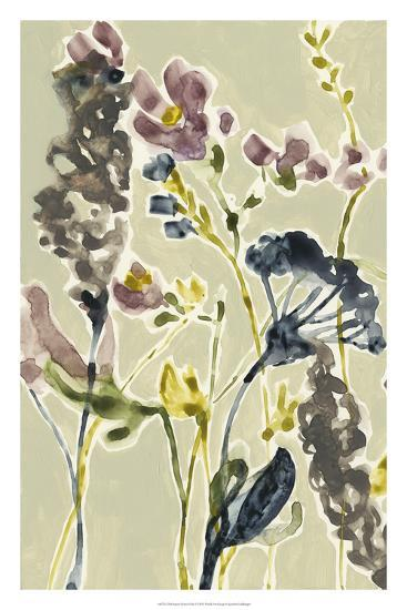 Parchment Flower Field I-Jennifer Goldberger-Premium Giclee Print