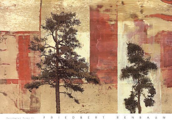 Parchment Trees II-Friedbert Renbaum-Art Print