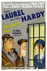 PARDON US, poster art, from left: Oliver Hardy, Stan Laurel [Laurel and Hardy], 1931