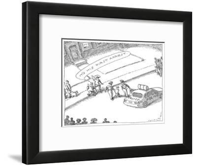 Parents to bystanders: 'It's His First Arrest,' as they video their son so… - New Yorker Cartoon-John O'brien-Framed Premium Giclee Print