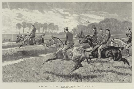 Pariah Hunting in India, the Gridiron Jump-John Charlton-Giclee Print