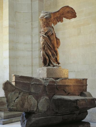 Parian Marble Statue of Winged Victory of Samothrace, also Called Nike of Samothrace--Giclee Print