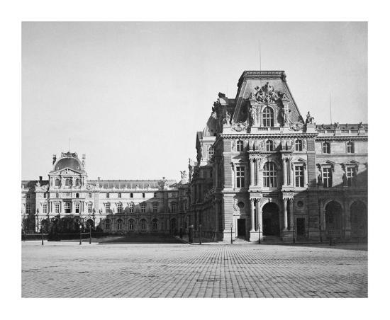 Paris, 1859 - Mollien Pavilion, the Louvre-Gustave Le Gray-Art Print