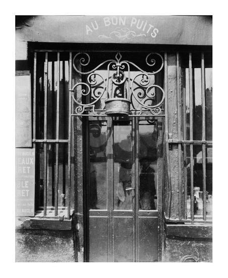 Paris, 1901 - Au bon puits, rue Michel Le Conte-Eugene Atget-Art Print