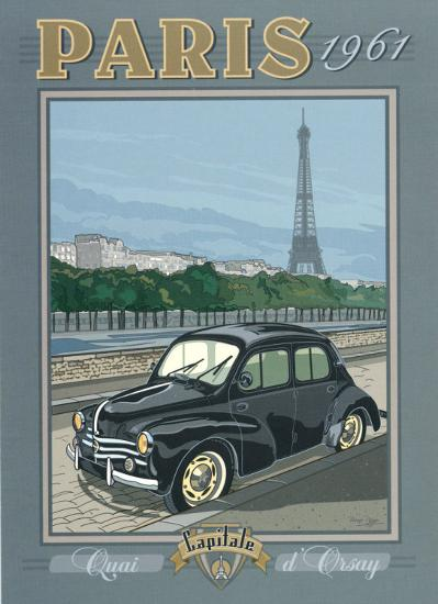 Paris 1961, 4CV-Bruno Pozzo-Art Print