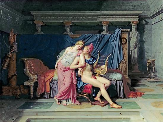 Paris and Helen-Jacques-Louis David-Giclee Print