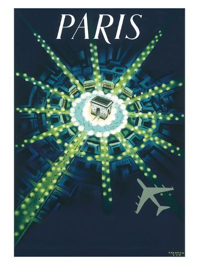 Paris - Arc de Triomphe (Arch of Triumph)-Pierre Baudouin-Premium Giclee Print
