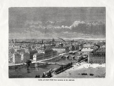 Paris, as Seen from the Church of St Gervais, France, 1879--Giclee Print