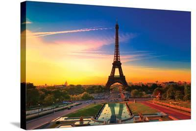 Paris at Dawn II--Stretched Canvas Print