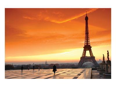 Paris at Dawn--Art Print