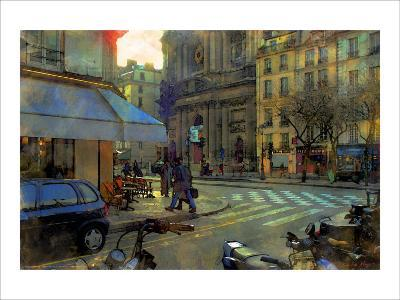 Paris at Dusk, France-Nicolas Hugo-Giclee Print
