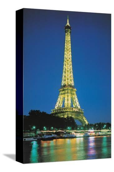 Paris at Night--Stretched Canvas Print