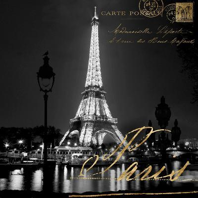 Paris at Night-Kate Carrigan-Art Print