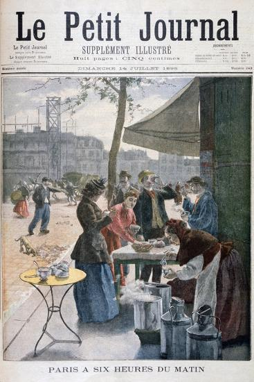 Paris at Six O'Clock in the Morning, 1895--Giclee Print