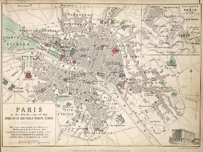 Paris at the Outbreak of the French Revolution in 1789--Giclee Print