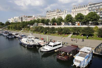 Paris Bastille Harbour, Paris, France, Europe-Godong-Photographic Print