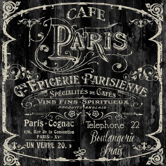 Paris Bistro VI-Color Bakery-Giclee Print