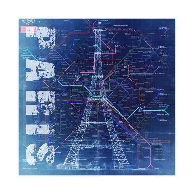 PARIS- Blue-Bill Cannon-Giclee Print