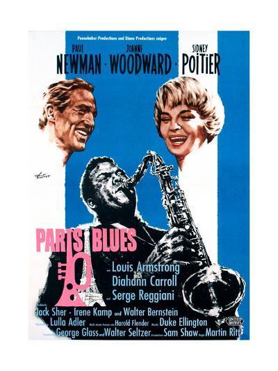 Paris Blues, from Left, Paul Newman, Sidney Poitier, Joanne Woodward, 1961--Giclee Print