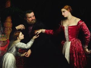 A Lady and Gentleman with their Daughter by Paris Bordone