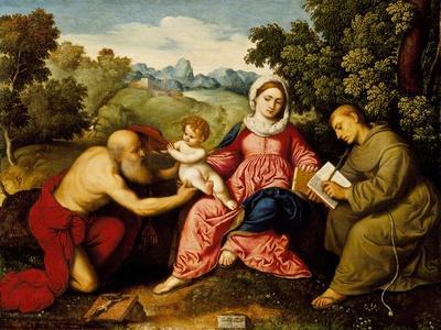 Madonna and child with Saints Jerome and Francis, c.1525
