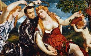 Venus, Mars & Cupid by Paris Bordone