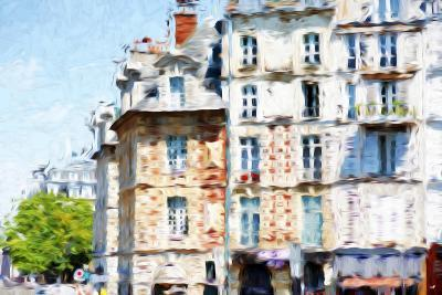 Paris Buildings - In the Style of Oil Painting-Philippe Hugonnard-Giclee Print