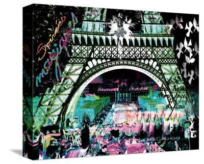 Paris by Night-Kaly-Stretched Canvas Print