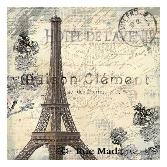 Paris Carte Postale 1-Kimberly Allen-Art Print