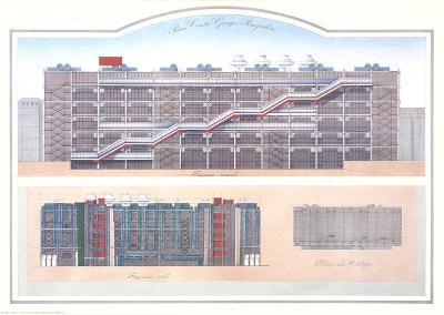 Paris - Centre Pompidou-Libero Patrignani-Collectable Print