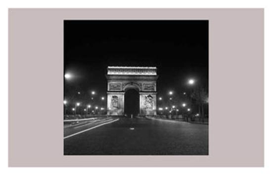Paris, Champs-Elysees, Arc de Triumph, 1960's--Art Print