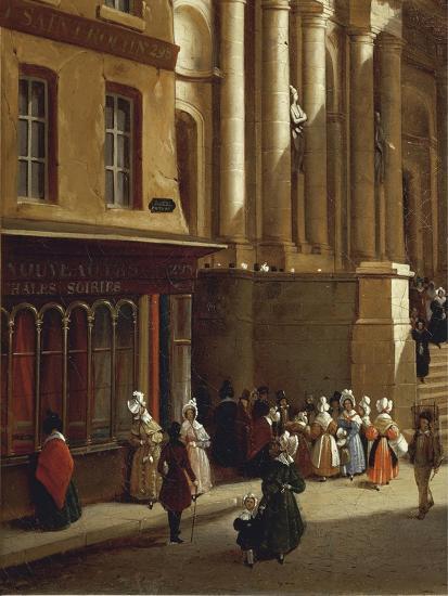 Paris Church of Saint-Roch in 1840-Moreno Gonzales-Giclee Print