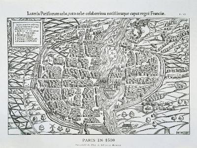 Paris City Plan C.1530-Sebastian Münster-Giclee Print