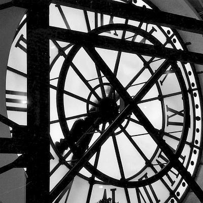 Paris Clock II-Alison Jerry-Art Print