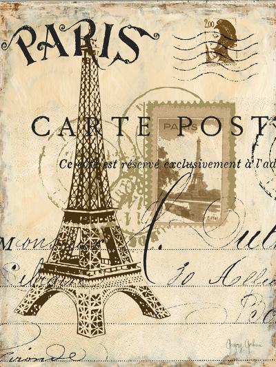 Paris Collage I - Eiffel Tower-Gregory Gorham-Premium Giclee Print