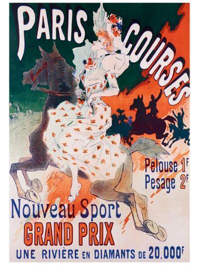 Paris Courses-Jules Ch?ret-Giclee Print