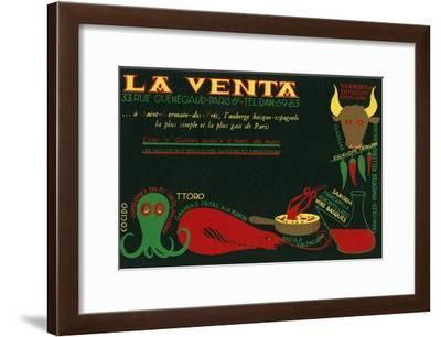 Paris Delicatessen for Spanish Food--Framed Art Print