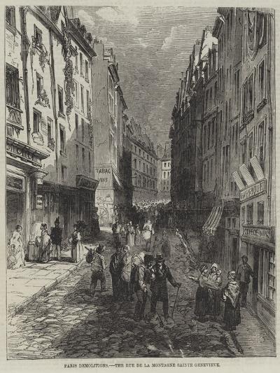Paris Demolitions, the Rue De La Montagne Sainte Genevieve--Giclee Print
