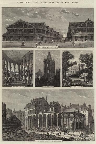 Paris Demolitions, Transformation of the Temple-Felix Thorigny-Giclee Print