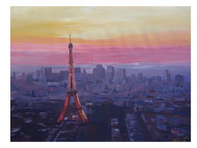 Paris Eiffel At Dusk-M Bleichner-Art Print