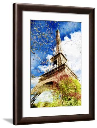 Paris Eiffel II - In the Style of Oil Painting-Philippe Hugonnard-Framed Giclee Print