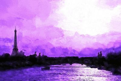 Paris Eiffel Pink Sunset-Philippe Hugonnard-Giclee Print