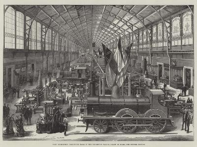 Paris Exhibition, Machinery Hall in the Exhibition Palace, Champ De Mars, the British Section--Giclee Print