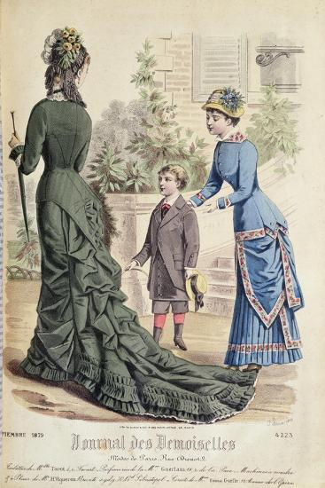 Paris Fashion, from 'Journal Des Demoiselles', Published Dupuy Paris, 1879--Giclee Print