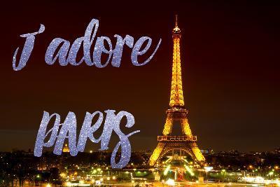Paris Fashion Series - J'adore Paris - Eiffel Tower at Night IX-Philippe Hugonnard-Photographic Print