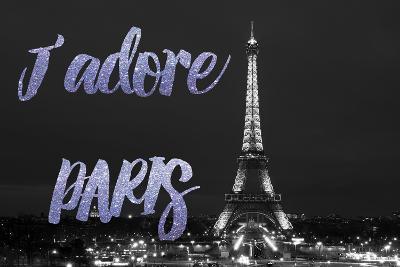 Paris Fashion Series - J'adore Paris - Eiffel Tower at Night VII-Philippe Hugonnard-Photographic Print