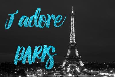 Paris Fashion Series - J'adore Paris - Eiffel Tower at Night VIII-Philippe Hugonnard-Photographic Print