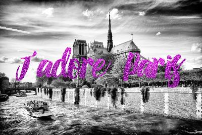Paris Fashion Series - J'adore Paris - Notre Dame Cathedral II-Philippe Hugonnard-Photographic Print